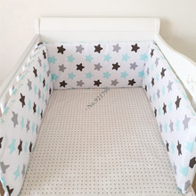 Buy Cartoon Newborn Baby Infant Crib Bumper Sets Wave Star Cotton Printed Cot Baby Bumpers Crib Protector Girl Boy 190cm 1PC for $19.74 in AliExpress store