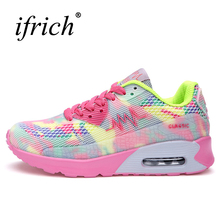 Ifrich Sports Shoes Women Running Sneakers Breathable Air Girls Athletic Shoes Pink/Black Walking Jogging Sneakers(China)