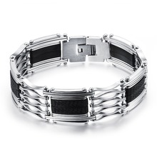 Stainless Steel Bracelets Engraved Hollow Big Solid Gold Bracelet Fashion Stainless Steel Bracelets MB(China)