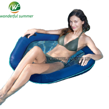 2017 New Mesh Inflatable Pool Float For Adults Ride-On Swimming Ring Summer Party Water Toys Lounger Floating Row Mattress Board(China)