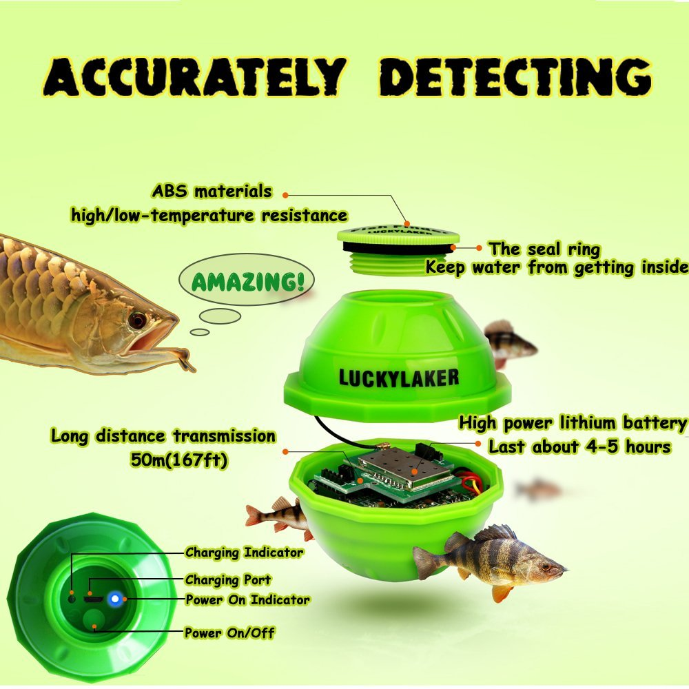Finder for Fishing Underwater Camera Monitor WIFI Wireless sonar sensor portable with APP for fishing alarm underwater hunting (3)
