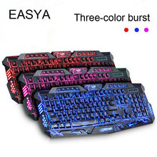EASYA Gaming Keyboard Wired USB Gamer Keyboards 114 Keys LED Floating Backlit Keyboard With Game Mechanical Feel For PC Use(China)