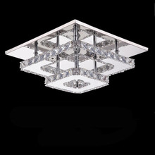 New square crystal led Chandeliers High-power 36W led lamps living room Chandelier Stainless steel led lustre light Chandelier(China)