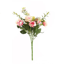1PC Artificial Silk Peony Flowers Pink home garden wedding decor floral bush Poeny Bouquet Chinese flower drop ship