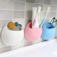 Practical New Cute Eggs Design Toothbrush Sucker Holder Suction Hooks Cup Organizer Toothbrush Rack Bathroom Kitchen Storage Set(China)