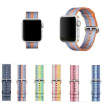 YIFALIAN For Apple Watch Band 42mm Nylon Watchbands Fabric Strap Replacement Wristband Bracelet Belt for iWatch Band 38MM 42MM(China)
