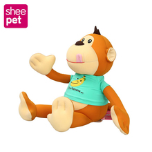 Super Plush Toys Monkey stuffed Animals doll Monkeys with ClothsFor kids Best Christmas birthday gifts(China)