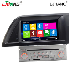 LJHANG Car DVD AUTO Radio Audio Multimedia For Citroen C5 Steering Wheel Control Bluetooth RDS FM GPS Navigation headunit Video(China)