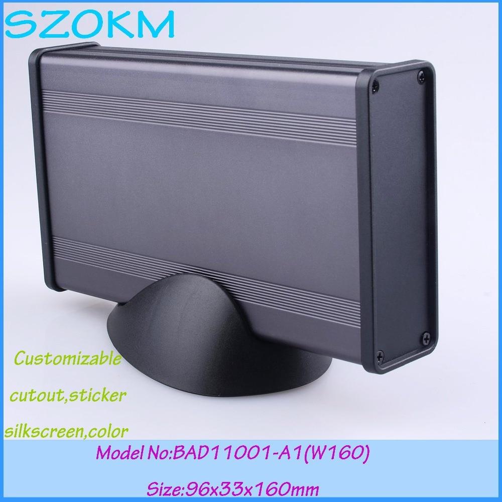 aluminum box amplifier enclosure (4pcs) 96*33*160mm szomk abs switch box project case customizable electronics enclosure for pcb<br><br>Aliexpress