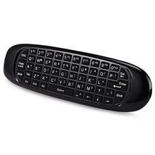 TK668 Wireless Gyroscope Fly Air Mouse Game Full QWERTY Keyboard Android Rechargeable Keyboard with TV Remote Control Function(China)