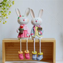 Bunny Resin Decorative Crafts Home Decoration Resin Zakka Furnishings Living Room Crafts Statue Valentine's Day Holiday Gifts