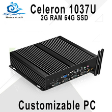 Cheapest Industrail Computer 1037U Mini Gaming PC Server Computer Mini PC with rs232 2G RAM 64G SSD 150M WIFI,2 RJ45 port
