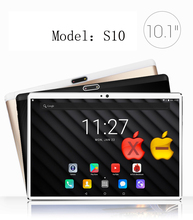 2018 New 2.5D Glass 10 inch Deca Core 4G FDD LTE Tablet 4GB RAM 64GB ROM 1920*1200 Dual Cameras Android 7.0 Tablet 10(China)