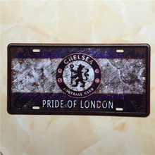 Vintage Metal Wall Plate Chelsea Football Tin Signs Bar Decoration Painting  Placas De Corativas Metal Vintage Car Plates Ajax