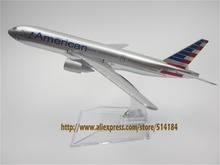 16cm Alloy Metal Air American AA Airlines Boeing 777 B777 Airways Airplane Model Plane Model W Stand Aircraft Gift(China)