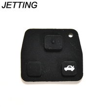 JETTING Rubber Key Pad 3 Buttons Car Remote Key Cases Rubber Pads For Toyota Avensis Corolla Lexus Rav4 1PC Hot Sale