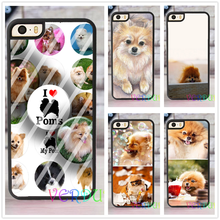 Pomeranian puppy dog fashion case cover for iphone 4 4s 5 5s SE 5c for 6 & 6 plus 6S & 6S plus 7 7 plus #XC37
