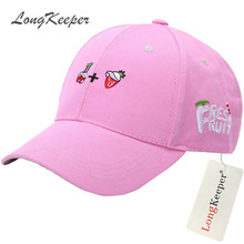 LongKeeper Lovely Ladies' Baseball Cap Women Cotton Snapback Caps Girls Casual Hat Pink Yellow Orange Red gorras beisbol MYW63(China)