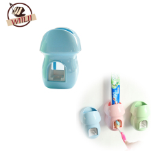 Plastic Mushroom Shape Automatic Toothpaste Dispenser Toothpaste Tube Squeezer Suction Cup Wall-Mounted Type