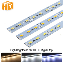 5630 LED Hard Rigid Strip High Brightness DC12V 36LEDs/50cm LED Bar Light For Kitchen Under Cabinet Showcase 10pcs/lot(China)