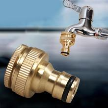 2017 Durable 1/2 Or 3/4 Inch Brass Garden Faucet Water Hose Tap Connector Fitting Gold Color