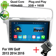 "HD 10.1"" 1024*600 Quad Core Android 5.1.1 Car DVD Player For Volkswagen VW Golf 7 MK7 VII Radio Stereo GPS Navigation System"