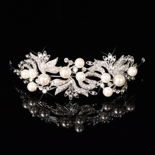 Women Crowns Hair Ornaments Wedding Decorations Wedding Diadem Diadems Freshwater Pearl Crystal Zinc Alloy Tiara Hair Accesories(China)