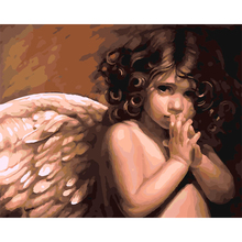Angel baby Pictures Painting By Number DIY Digital Oil Painting On Canvas Handwork Unique Gift Colorful Horse 40x50cm