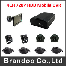 Real full 720P 4CH HDD mobile DVR for Vehicle(China)