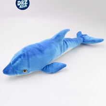 Simulation Blue Dolphin fish plush toys pillow doll children present campaign gifts