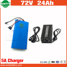 20S 12P Lithium Battery 72v 24Ah 2800w High Power Built in 50A BMS with 5A Charger Electric Bicycle Battery 72v Free Shipping