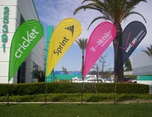 3m Custom Teardrop Flags, Outdoor Advertising Beach Banner Flag, Print one side,Feather flag, Customized logo flag Free shipping