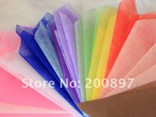 2015  Solid Color Tissue Paper 50x50cm 45pcs Lot Colors Choice Flower Wrapping Packing Material