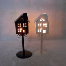 Free shipping Cheap 2PCS/LOT home design decoration Metal candle holder Small Iron classic lantern White/Black Color