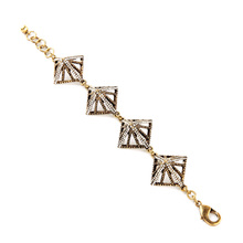 Charming Chic Antique Gold Color Filled Bracelet Free Shipping No Minimum Order Geometric(China)