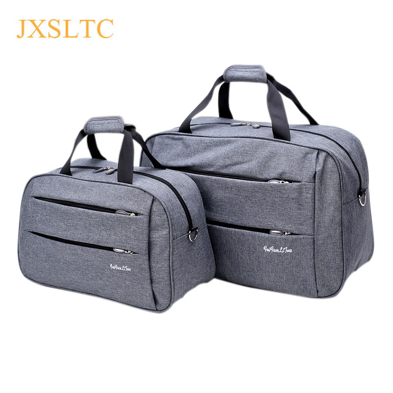 Luggage travel bags Waterproof canvas men women big bag on wheels man shoulder duffel Bag black gray blue carry on cabin luggage title=