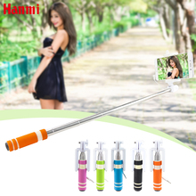 Mini Selfie Stick With Button Wired Handle Monopod Universal For iPhone  Android Samsung Huawei Xiaomi Sticks