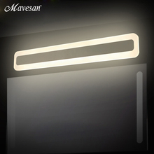 Modern LED Mirror Lights 400 600 800 mm wall lamp Bathroom bedroom headboard wall sconce lampe deco Anti-fog espelho banheiro(China)