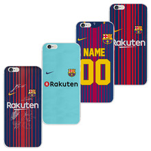 DIY Football Club Phone Case For Apple Iphone X 8 7 7S 6 6S Plus 5 SE 5S 5C 4 For Samsung Lenovo Xiaomi Huawei LG Your Own LOGO
