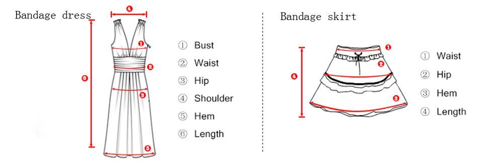 bandage dress and skirt