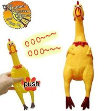 Mini Screaming Rubber Chicken Squeak Toy Funny Squeeze Sound Toy for Kids Women Men Antistress Tool Shrilling Chickens(China)