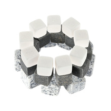 9 PCS 18mm Whisky Stones ice cooler 3 Colors Drinks Cooler Cubes Beer Rocks Granite with Pouch Wine Cooler Whisky Stones