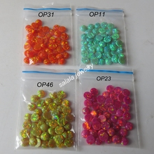100 pcs /lot  Colorful Round opal 5mm Round Flat Black opal Synthetic  Round Cabochon Opal stones Round Flat Bottom Fire Opal