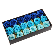 18 pcs sweet-smelling Wash hands & Petal bath Soap flower pink blue purple gradient women's day Valentine's day gift romantic(China)