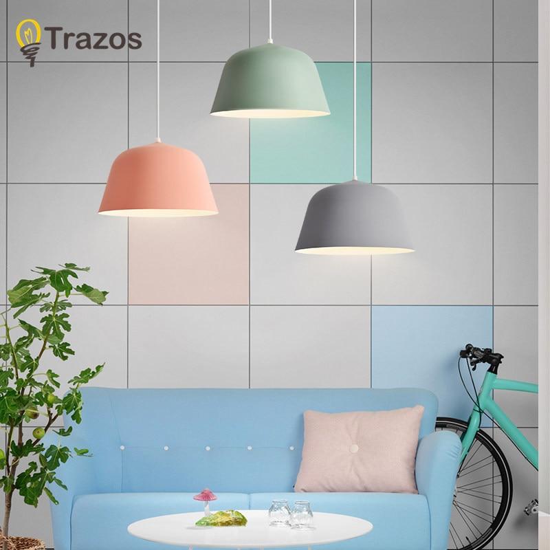 Colorful Pendant Lamp Modern Vintage Bar Restaurant Bedrooms Hanging Lamp Large Shopping Silica Mal E27 Art Pendant Light<br>
