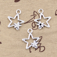 8pcs Charms star 22*19mm Antique Tibetan Silver Pendant Findings Accessories DIY Vintage Choker Necklace(China)