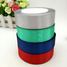 HL 4 rolls (100 yards) 25mm width satin ribbon wedding decoration crafts packing belt for making bows DIY weaving 4 colors A241