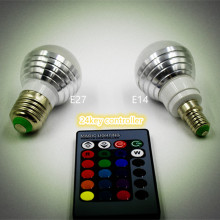 16 Color Changing LED RGB Magic Light Bulb Lamp 85-265V RGB Led Light Spotlight + IR Remote Control E27 E14 5W Decoration Light