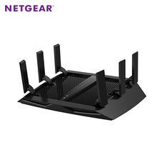 NETGEAR R8000 Nighthawk X6 Tri-Band Gigabit WiFi Router AC3200(600M+1300M+1300Mbps) 802.11ac USB3.0 Multi Language Firmware(China)