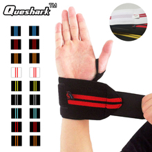 1Pair Weightlifting Wrist Support Strap Wraps Sport Wristband Dumbbell Hand Bands Grips Belt Gym Fitness Crossfit Bandage Gloves(China)